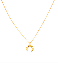 Load image into Gallery viewer, Mini Crescent Moon Necklace
