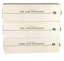 Load image into Gallery viewer, Newlyweds Anniversary Wine Box