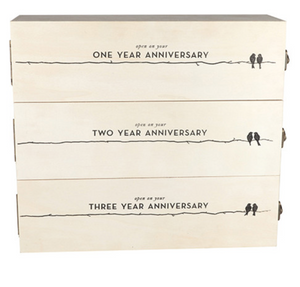 Newlyweds Anniversary Wine Box