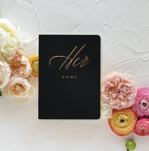 Black and Gold Vow Book - Her Vows