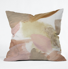Load image into Gallery viewer, Taupe Watercolor Throw Pillow