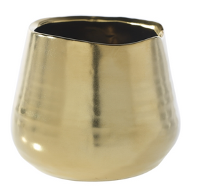 Pine Street Pot - Small Matte Gold