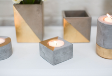 Load image into Gallery viewer, Concrete Candle Holder