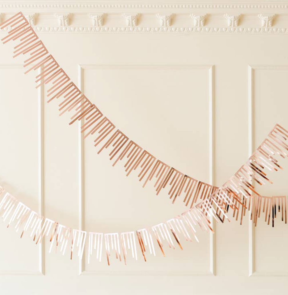 Rose Gold Cascade Paper Garland