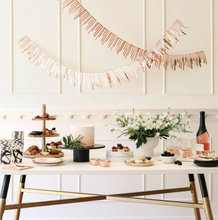 Load image into Gallery viewer, Rose Gold Cascade Paper Garland