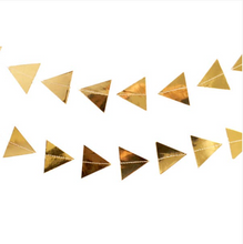 Load image into Gallery viewer, Gold Triangles Paper Garland