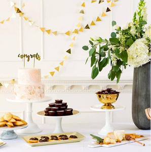 Gold Triangles Paper Garland