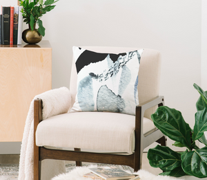 Blue Watercolor Throw Pillow