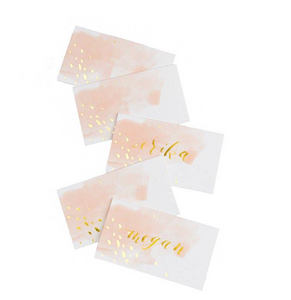 Peach Watercolor Placecards (set of 10)
