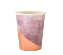 Load image into Gallery viewer, Purple Watercolor Paper Cups (set of 8)