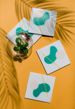 Load image into Gallery viewer, Abstract Green Coaster (set of 4)