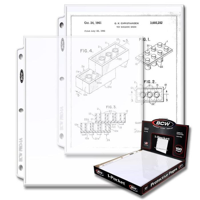 BCW 1 Pocket Pages (100 Qty)