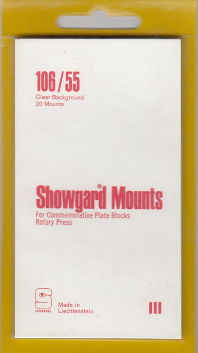 Showgard Stamp Mount 106/55 Clear