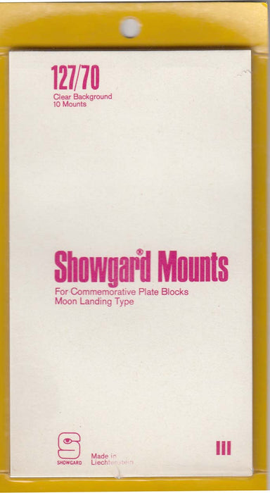 Showgard Stamp Mount 127/70 Clear