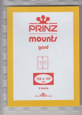 Prinz Stamp  Mount 152 x 107 Blocks & Sheetlets Clear
