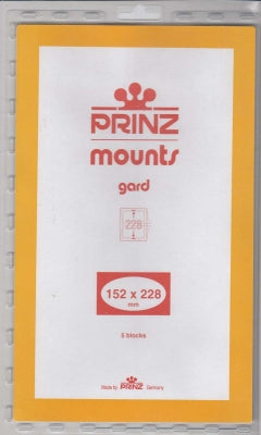 Prinz Stamp Mount 152 x 228 Blocks & Sheetlets Clear