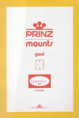 Prinz Stamp Mount 156 x 264 Blocks & Sheetlets Black