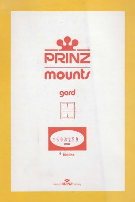 Prinz Stamp Mount 159 x 259 Blocks & Sheetlets Black