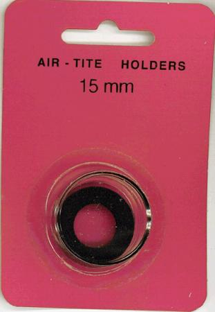 15mm Air-Tite Coin Capsule Black Ring