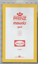 Prinz Stamp Mount 160 x 200 Blocks & Sheetlets Clear