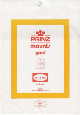 Prinz Stamp Mount 161 x 160 Blocks & Sheetlets Black