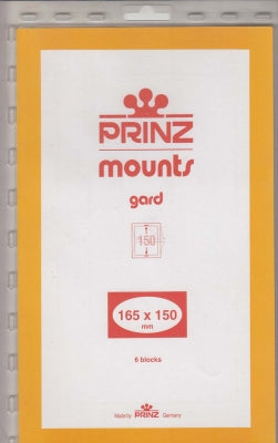 Prinz Stamp Mount 165 x 150 Blocks & Sheetlets Black