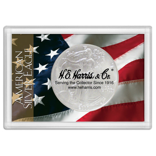 American Silver Eagle Flag Frosty Case 2x3