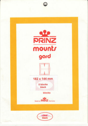 Prinz Stamp Mount 182 x 144 Blocks & Sheetlets Black
