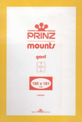 Prinz Stamp Mount 185 x 181 Blocks & Sheetlets Black