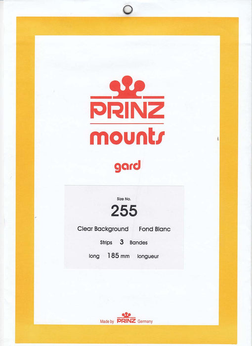 Prinz Stamp Mount 185 x 255 Blocks & Sheetlets Clear