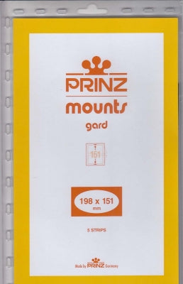 Prinz Stamp Mount 198 x 151 Blocks & Sheetlets Clear