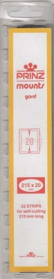 Prinz Stamp Mount 20 215 x 20 mm Strips Clear