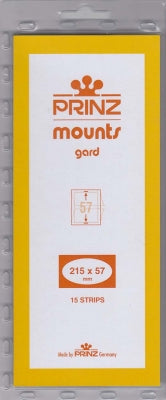 Prinz Stamp Mount 57 215 x 57 mm Strips Clear