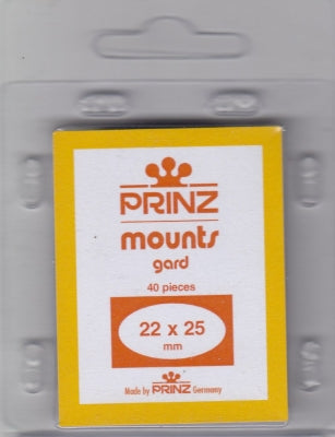 Prinz Stamp Mount 22/25 Pre-Cut Single Black