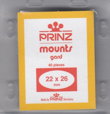 Prinz Stamp Mount 22/26 Pre-Cut Single Black