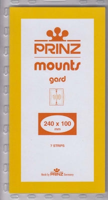 Prinz Stamp Mount 100 240 x100 mm Strip Clear