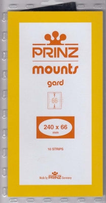 Prinz Stamp Mount 66 240 x 66 mm Strips Black