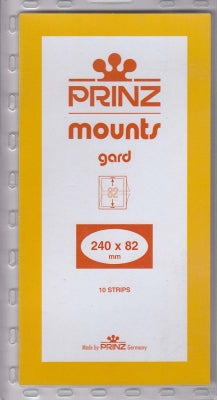 Prinz Stamp Mount 82 240 x 82 mm Strips Black