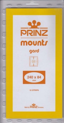 Prinz Stamp Mount 84 240 x 84 mm Strips Clear