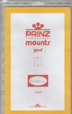 Prinz Stamp Mount 241 x 114 Blocks & Sheetlets Black