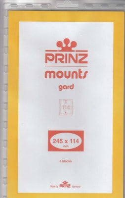 Prinz Stamp Mount 245 x 114 Blocks & Sheetlets Clear