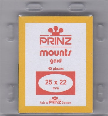 Prinz Stamp Mount 25/22 Pre-Cut Single Black