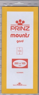 Prinz Stamp Mount 105 265 x 105 mm Strips & Panes Clear