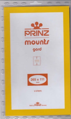 Prinz Stamp Mount 111 265 x 111 mm Strips & Panes Clear