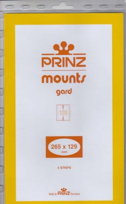Prinz Stamp Mount 129 265 x 129 mm Strips & Panes Clear