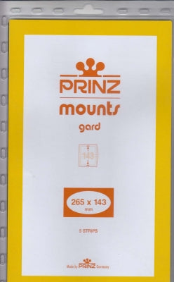 Prinz Stamp Mount 143 265 x 143 mm Strips & Panes Black