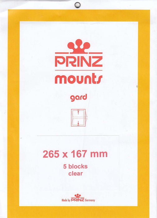 Prinz Stamp Mount 167 265 x 167 mm Strips & Panes Clear
