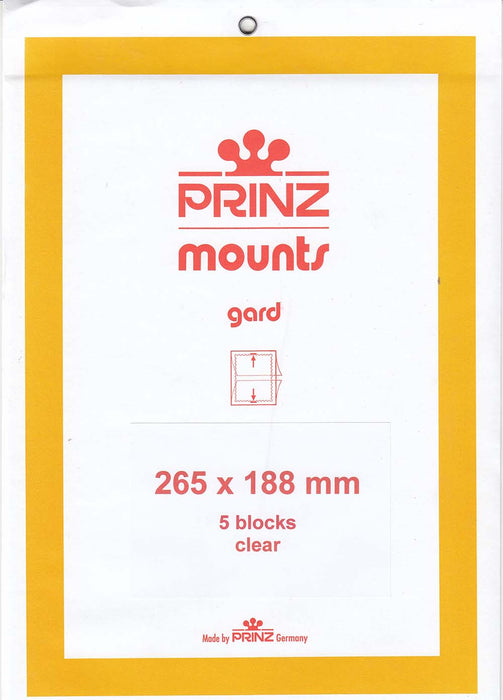Prinz Stamp Mount 188 265 x 188 mm Strips & Panes Clear