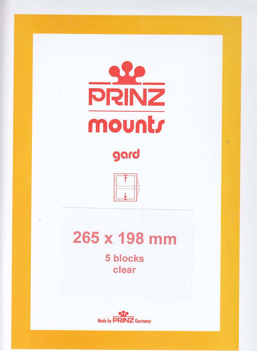 Prinz Stamp Mount 198 265 x 198 mm Strips & Panes Clear