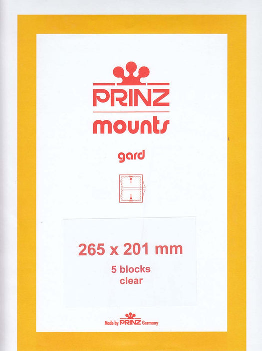 Prinz Stamp Mount 201 265 x 201 mm Strips & Panes Clear